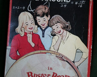"""Buster Brown Romper Box, Vintage, """"Going Around in Buster Brown"""" box"""