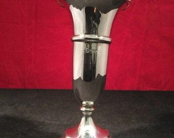 Vintage Sterling Silver Vase - AL Davenport, Birmingham 1960