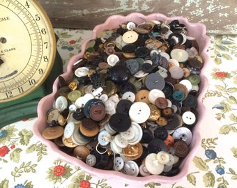 Mixed Assorted Vintage Buttons 8 oz. Grab Bag Vintage Buttons