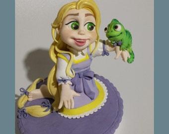 Sugar paste Princess Cake Topper