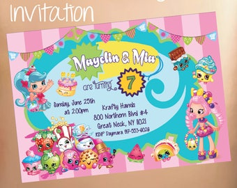 Shopkins Birthday Party Invitation Invite Digital or Printable Personalized