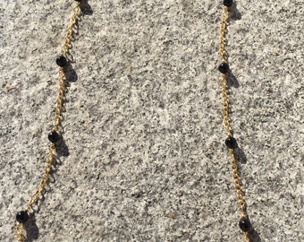 Onyx vermeil beaded necklace