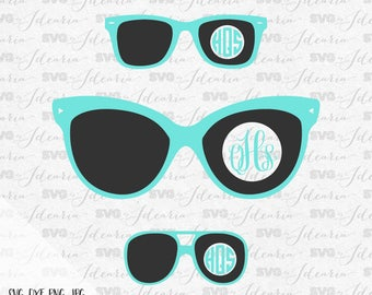 Sunglasses Svg Beach Svg Monogram Frames Svg Svg Monogram Frame Svg Beach files for silhouette svg files for cricut svg Monogram Frames