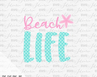 Beach Life Svg, Mermaid Svg, Flip Flops Svg, Mermaid Flip Flops, Summer Svg, mermaid life, cricut, silhouette, summer 2017 svg, beach svg,
