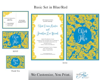 Yellow Floral Wedding Invitation Template