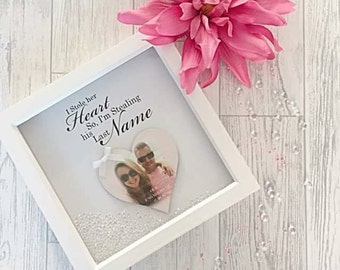 Engagement frame, personalised engagement, gift for couples, engaement gift, persoanlised engagement gift, meaningful engagement present