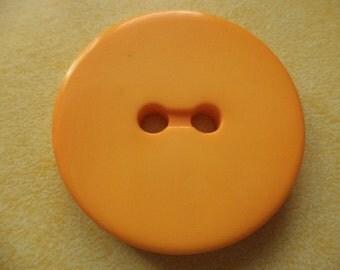 5 large orange buttons 34mm (5667) coat buttons