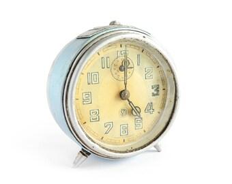 1950 French SMI Alarm Clock in Baby Blue