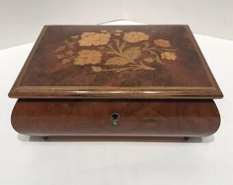 Vintage Inlay Italian wood box
