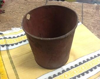 Vintage Primitive Sap Bucket