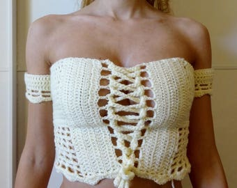 Martinique Off-Shoulder Crochet Top