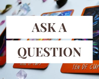Ask a Question -- Custom 3 Card Tarot Reading + 1 Follow-Up Card -- Photo of Spread Included