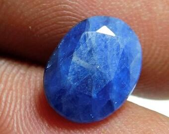 cts 3.35 blue sapphire faceted blue sapphire faceted sapphire stone,size 8x10x4 mm,PCD 1724