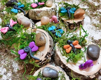 3 Fairy Garden Dragonflys, Fairy Garden Accessory, Miniature Dragonfly, Terrarium Dragonfly, Fairy Accessory, Miniature Garden Accessory