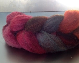Hand-dyed combed tops from Leicesterwolle Nr. 64