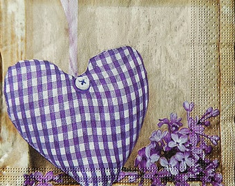 paper napkins,fiolet hearts napkins,valentine's napkins,love decor collection,napkins for decoupage,crafts,fiolet lilac napkins