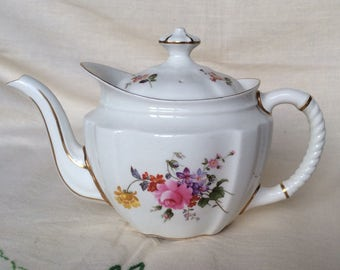 """Royal Crown Derby """"Derby Posies """" Antique Teapot-Afternoon Tea-Fine English Bone China-gift for her-Gift-Teapot Collector-Made in England"""
