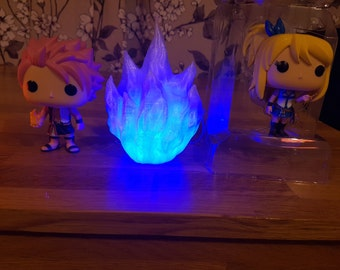 LED Blue Fire / Ice Ball (blue/clear)