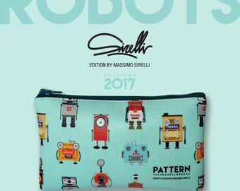 Pouch pocket travellovebag love robot edition by Massimo Sajid-tiffany