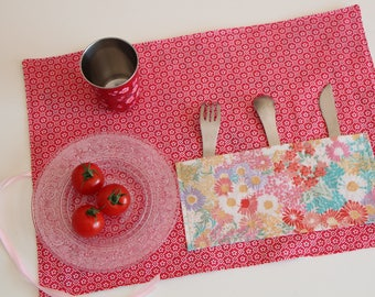 Vintage flowers picnic set