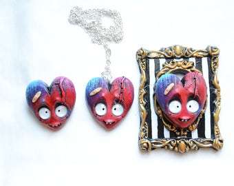 Red heart (brooch/necklace/frame - You choose!)