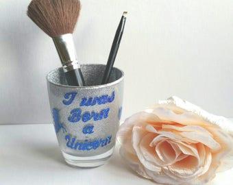 Unicorn makeup brush holder, teenagers gift, best friend gift,16th 18th 21st 30th birthday gift, unicorn lovers gift, unicorn accessories