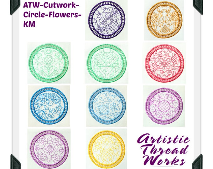 Flower-Cutwork-Circular ( 10 Machine Embroidery Designs from ATW )
