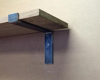 """6"""" - 20"""" Heavy Duty Flat Steel Industrial Shelf Brackets, Heavy Duty Modern Shelf Brackets"""