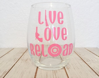 Gun Lover Gift - Veteran Gifts - Gun Gifts - Gun Enthusiast- Live Love Relaod - 2nd Amendment Gun Rights - Funny Gun Gifts - Valentines Day