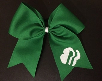 Girl Scout Emblem Hairbow--Daisy/ Brownie/ Cadette