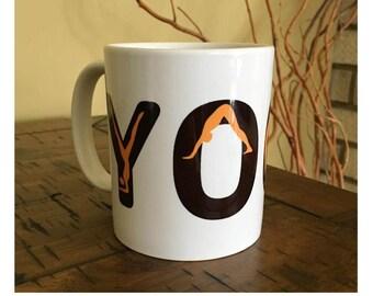 Yoga Coffee Mug | Yoga Mug | Yoga Positions Mug | Inspirational Coffee Mug