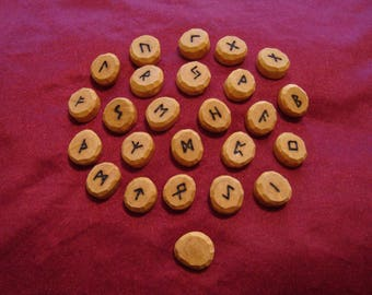 Runes of Thorn (1) / Elder Futhark Runes / Hawthorn wood / Sacred writing / Arte Mystique / GreenwoodEnchantment / Hawthorn Rune Set / Pagan