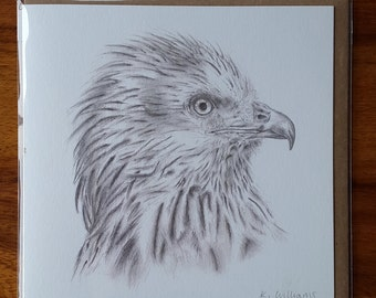 Red Kite Greetings card, Animal card, Mothers day card