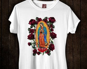Our Lady Of Guadalupe Round Neck T-shirt