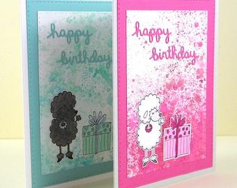 Poodle Birthday Card, Poodle Happy Birthday, Poodle Card, Dog Birthday Card