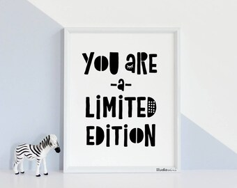 Baby Room Wall Decor, LIMITED EDITION 50% OFF, Monochrome Nursery Art Typography Print,Children's Inspirational Art 8x10 or 11x14in unframed