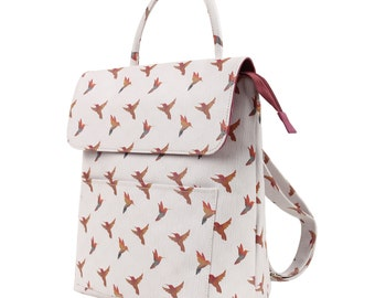 TaylorHe Backpack Rucksack Carry On Bag  Zipped Top Birds In Flight