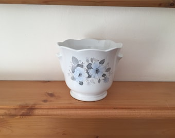 Vintage Royal Norfolk Hand Painted Planter / Flower Pot from 1960s