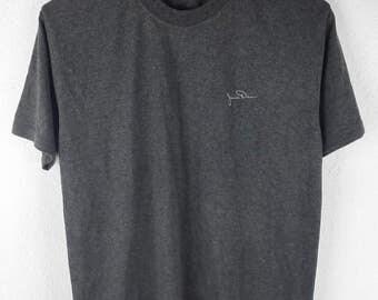 RARE!!! James Dean Actor Hollywood Small Logo Crew Neck Dark Grey Colour T-Shirts M Size