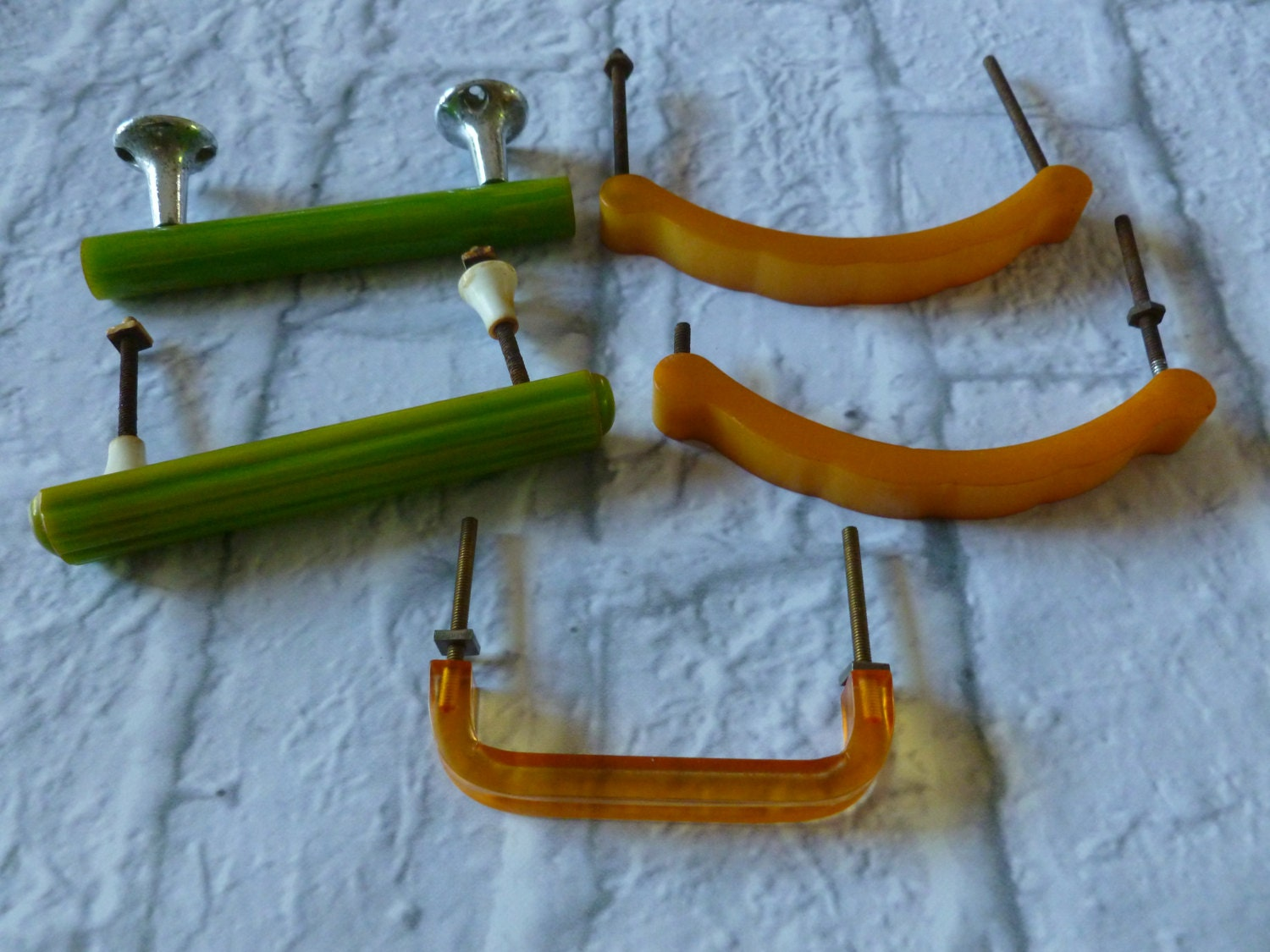 Vintage Bakelite and Lucite Drawer Pulls or Cabinet Handles, Home ...