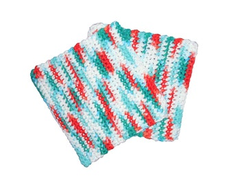 Two crochet wash cloths