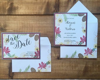 Fall Wedding Save the Date // Autumn Wedding Save the Date // Custom Wedding Save the Date