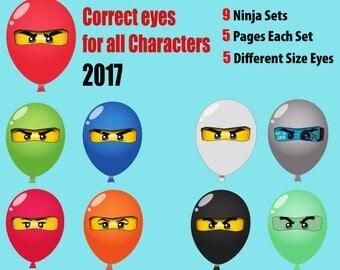 Ninjago eyes 2017 - 9 sets - All Characters