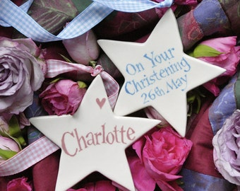 Personalised Christening or New Baby Star