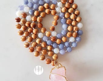 Self-Love Mala, 108 Mala Necklace, Rose Quartz Mala, 108 Bead Mala, Mala Necklace, 108 Mala, 108 Japa Mala, 108 Bead Necklace, Japa Mala