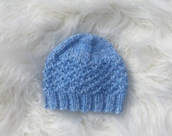 Knitted Baby Beanie // Hand Knit Baby Hat