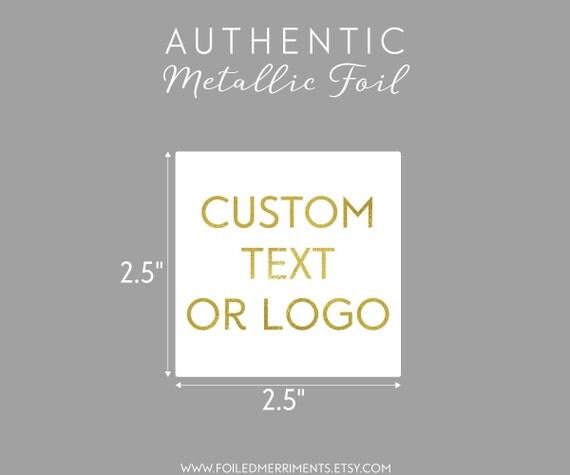 Custom Gold Foil Sticker Gold Foil Logo Sticker Custom Gold - Custom gold foil stickers