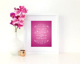Sprinkle me With Pixie Dust Printable, 8x10, Digital Print, Print for nursery or Child's room, Pink