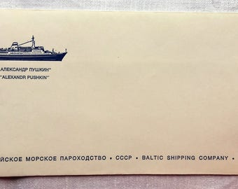 USSR Baltic Shipping Company Soviet cruise ship M/S Alexander Pushkin envelope