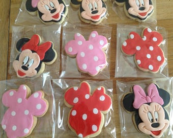 Disney Minnie Mouse Butter Biscuits With Decorative Fondant Toppers